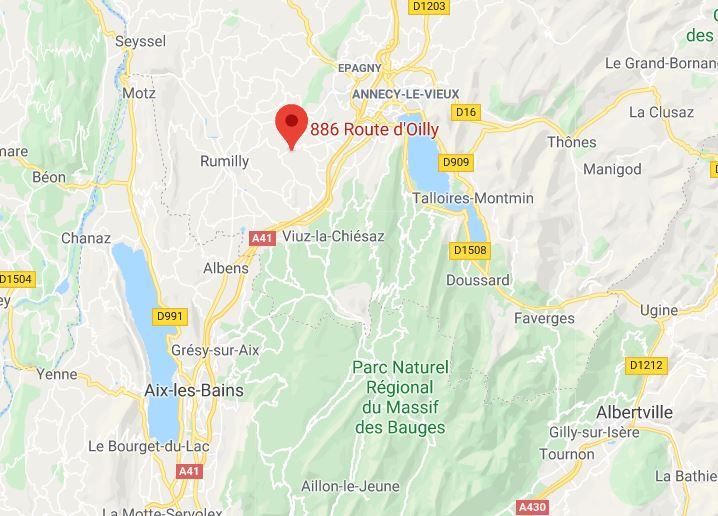 Carte Haute Savoie